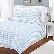 Finley Coverlet in Blue/White