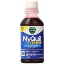 Vicks NyQuil Severe Cold & Flu Liquid, Original, 8 fl oz, 1 Count