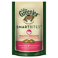 Feline Greenies Smartbites Healthy Skin and Fur Salmon Flavor, 2.1 oz.