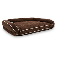"Petco Memory Foam Brown Couch Dog Bed, 48"" L X 36"" W X 10"" H"