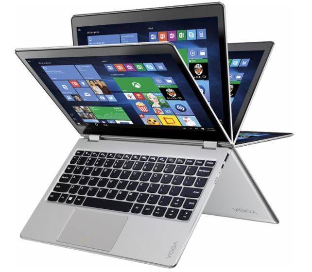 """Lenovo - Yoga 710 11 2-in-1 11.6"""" Touch-Screen Laptop - Intel Pentium - 4GB Memory - 128GB Solid State Drive - Silver"""