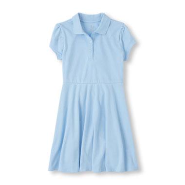 Girls Uniform Short Sleeve Polo Dress