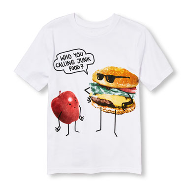 Boys Short Sleeve 'Who You Calling Junk Food?' Graphic Tee