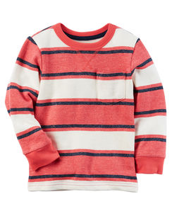 French Terry Striped Pullover