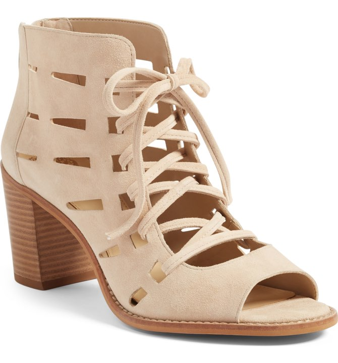 Tressa Perforated Lace-Up Sandal by Vince Camuto