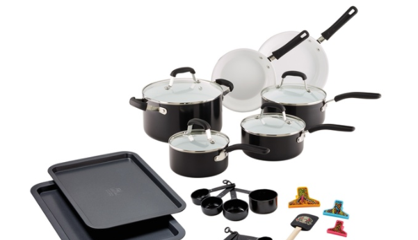 Guy Fieri Ceramic Nonstick Aluminum Cookware Set (25-Piece)