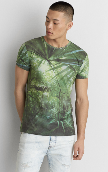 AEO Short Sleeve Palm T-Shirt