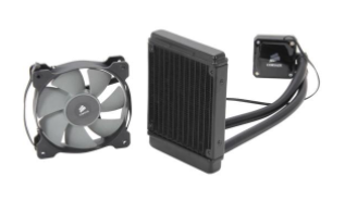 CORSAIR Hydro Series H60 (CW-9060007-WW) High Performance Water / Liquid CPU Cooler. 120mm  AMD AM4 Compatible