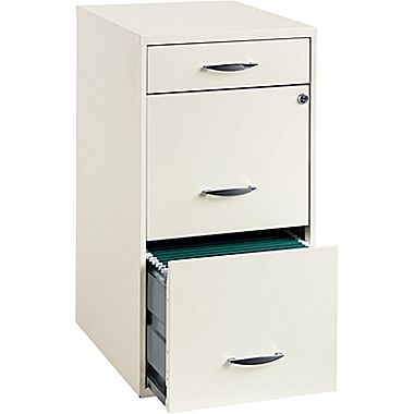 Office Designs 3-Drawer Utility File Cabinet, White