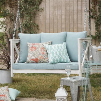 Coral Coast Delanie Rose 4 ft. Porch Swing with Cushion