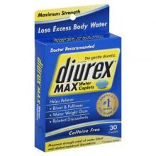 Diurex Water Caplets, Max, Caplets, 30 ct.