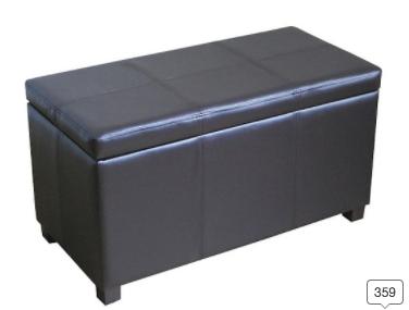 Storage Ottoman Brown - Threshold™