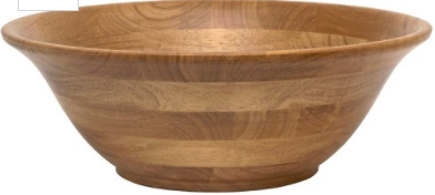"Lipper International Oak Large Footed Flared Bowl (14"")"