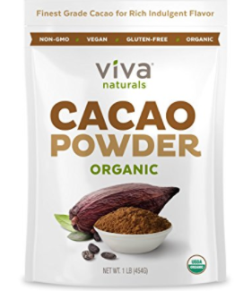 Viva Naturals - The BEST Tasting Certified Organic Cacao Powder, 1 LB
