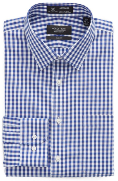 Smartcare™ Trim Fit Check Dress Shirt