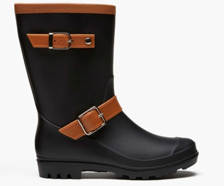 Sociology Women's Two-Tone Rain Boots | Groupon Exclusive