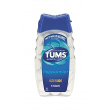 Tums Antacid/Calcium Supplement, Ultra Strength 1000, Peppermint, Chewable Tablets, 72 tablets