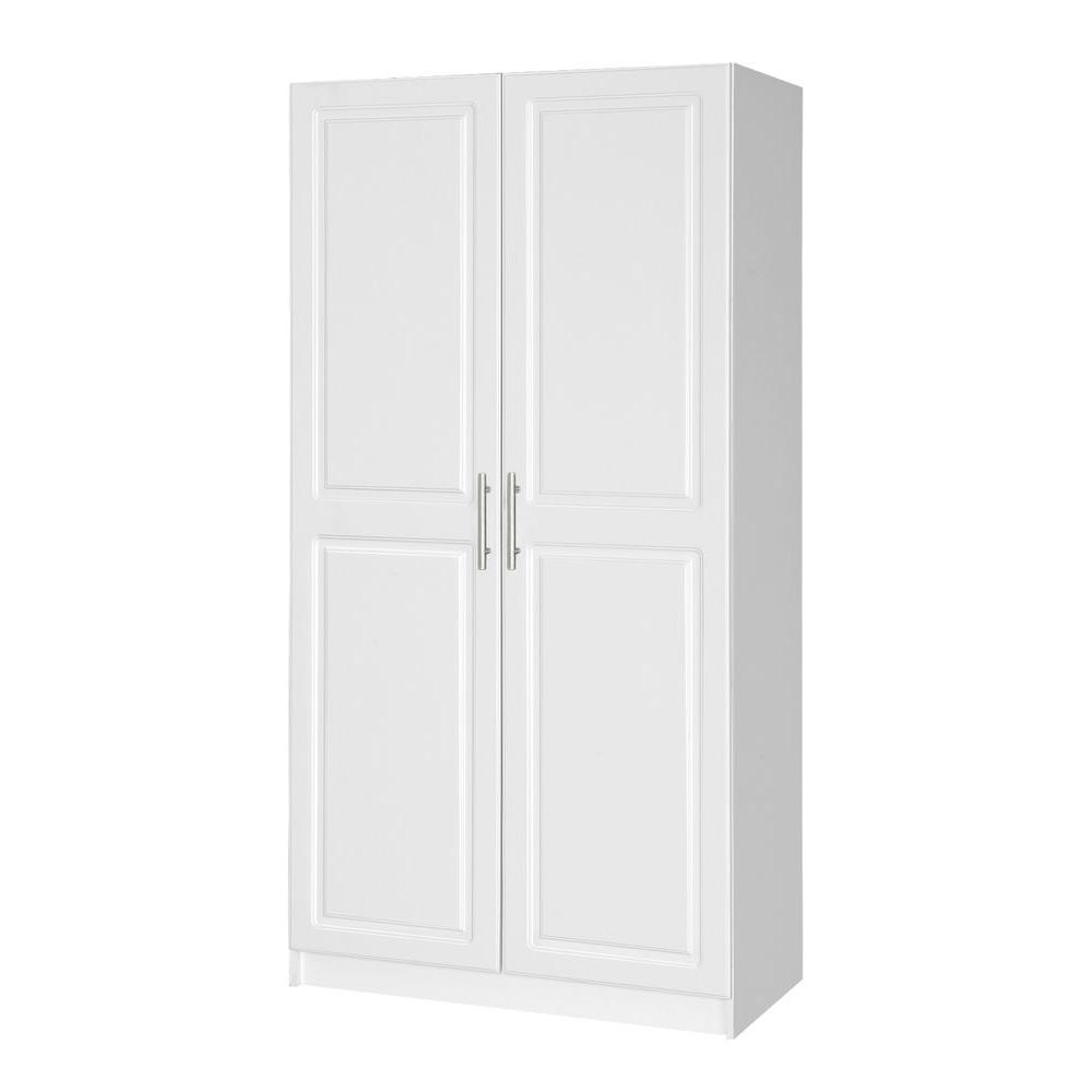 Hampton Bay Select 72.01 in. H MDF Storage Cabinet in White
