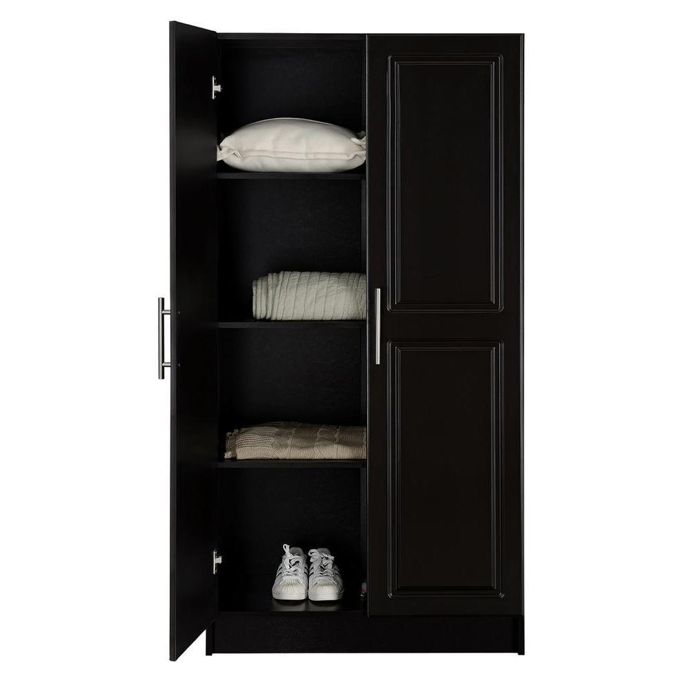 Hampton Bay Select 65 in. H MDF Storage Cabinet in Espresso