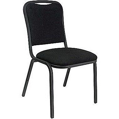 Marco® Steel Frame Fabric Banquet Chair, Black (508-20-246)