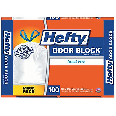 Hefty® CinchSak Drawstring Trash Bags, 13 Gallon, 100 Bags/Box