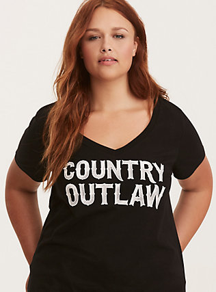 Country Outlaw V-Neck Tee