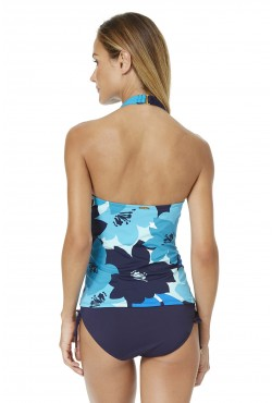 Anne Cole Women's Full Bloom High Neck Tankini Swim Top