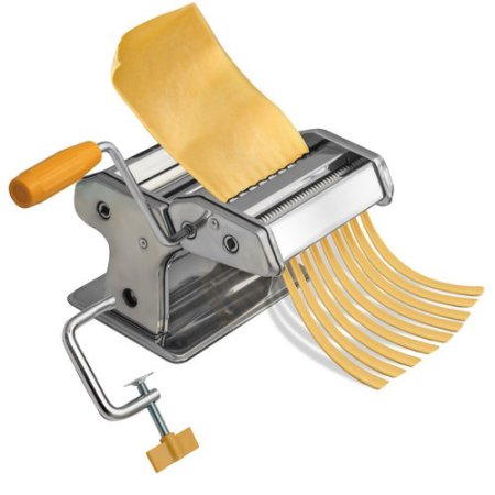 OxGord Stainless Steel Fresh Pasta Maker Roller Machine for Spaghetti, Linguini, Alfredo, and Angel Hair