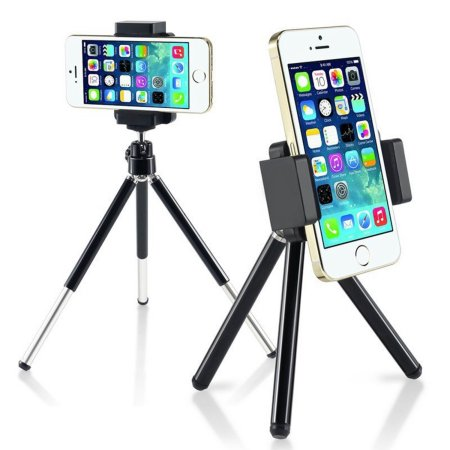 "Insten 360 degree Ball Head Mini Phone Tripod Stand Holder for Smartphone Selfie Universal Samsung Galaxy S7 S6 S5 S4 S3 Edge Note 5 4 3 On5 On7 iPhone 7 6 6S 4.7"" Plus 5.5"" 6S SE 5S 5C 4S Pocket-Size"