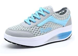 Mljsh Women's Mesh Slip-On Platform Shoes Fitness Work Out Sneaker