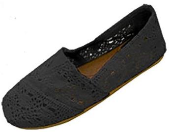 Shoes 18 Womens Canvas Crochet Slip on Shoes Flats