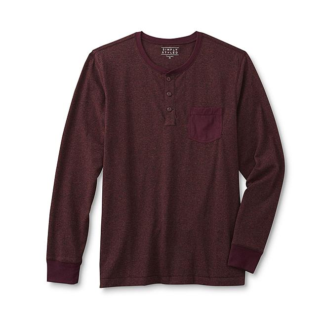 Simply Styled Men's Pocket Henley Shirt