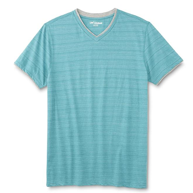 LEE Men's Premium Select V-Neck T-Shirt - Striped