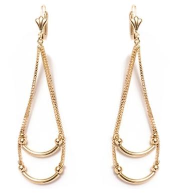 Teardrop Earrings in 18K Gold Plating by Sevil