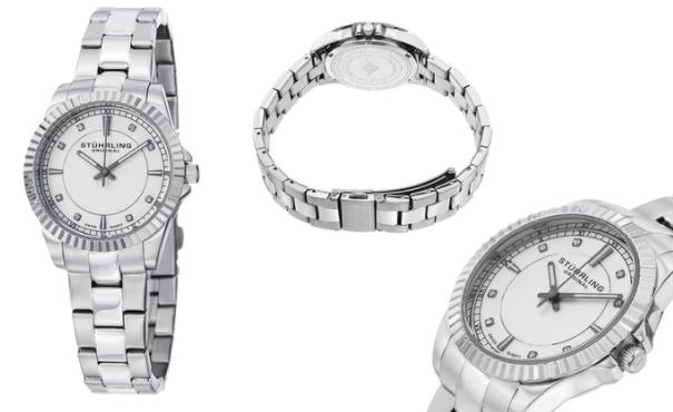 Stührling Original Women's Stainless Steel Swiss Quartz Dress Watch