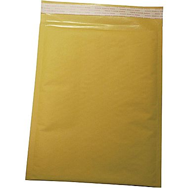 "Staples Self Seal #0, 6"" X 9"" Kraft Bubble Mailer, 250/Pack"