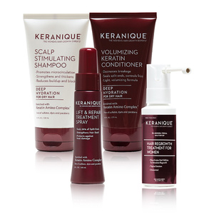 Keranique Deluxe Regrowth Hair System Kit   Authorized Retailer Keranique Deluxe Regrowth Hair System Kit (4 piece)
