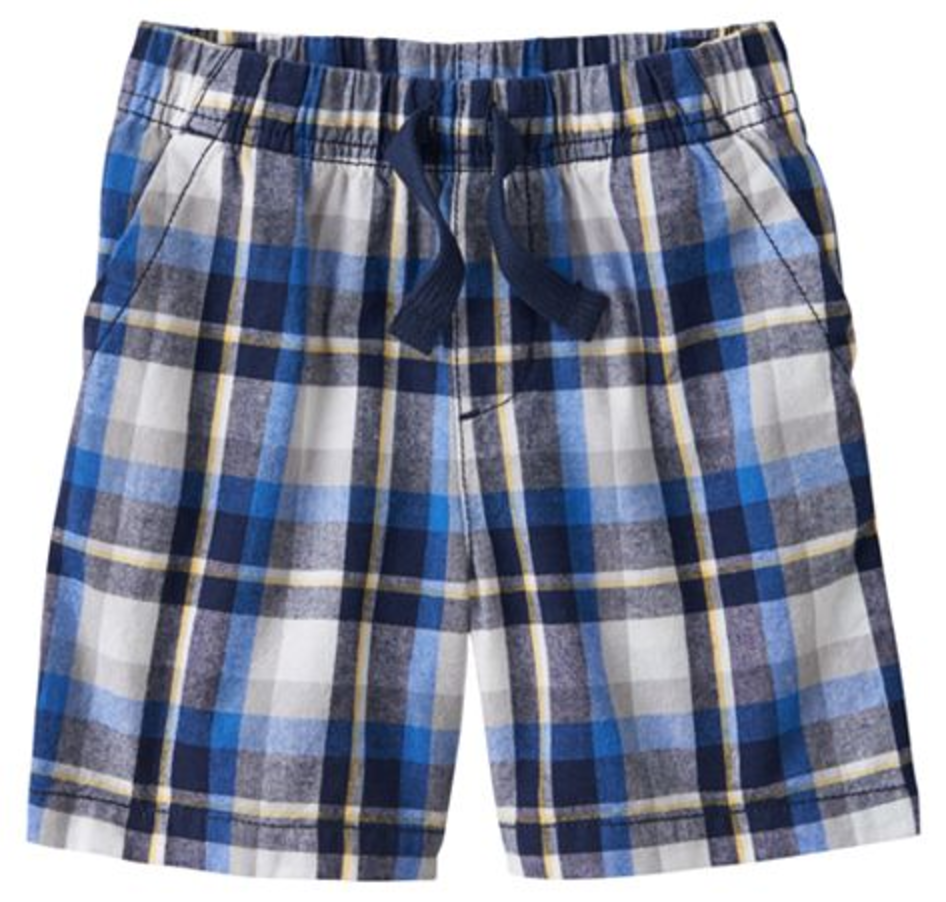 Toddler Boy Jumping Beans® Yarn-Dyed Plaid Canvas Shorts