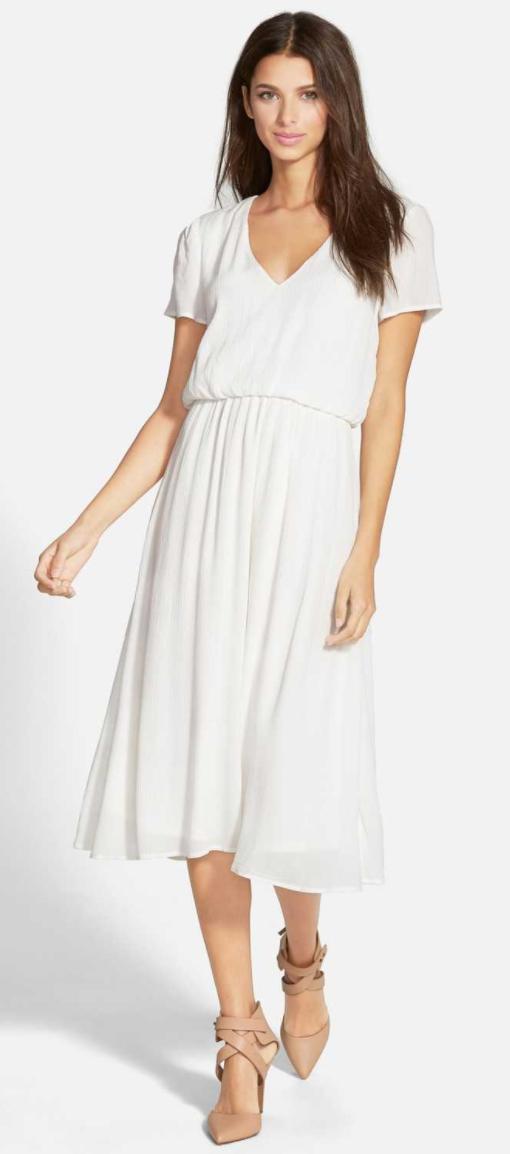 Blouson Midi Dress by WAYF
