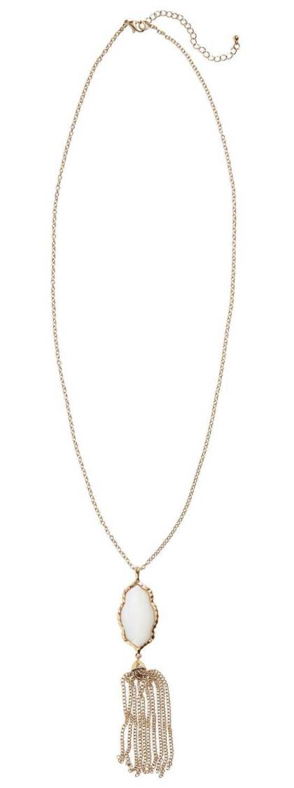 Stone Fringe Pendant Necklace BP.