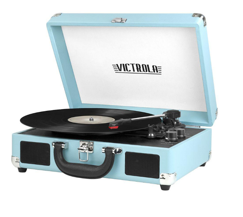 Victrola 3-Speed Suitcase Turntable with Bluetooth in Turquoise