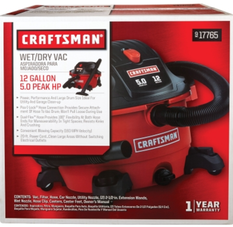 Craftsman 12 Gallon Wet/Dry Vacuum (00917765)