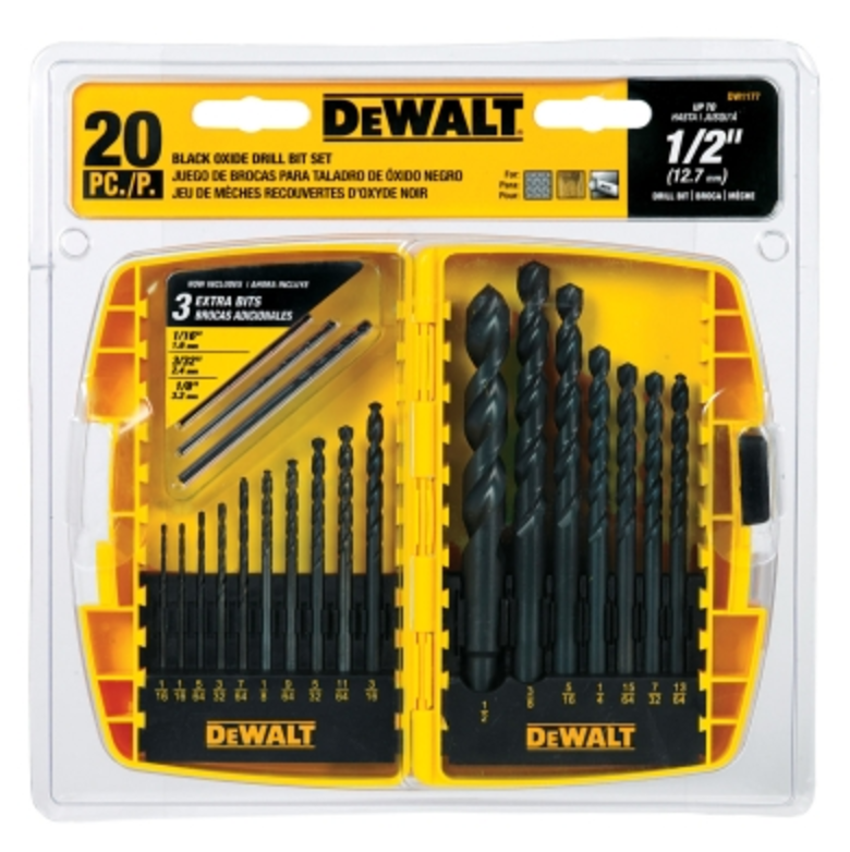 Dewalt® 20 Piece Black Oxide Drill Bit Set (DW1177)
