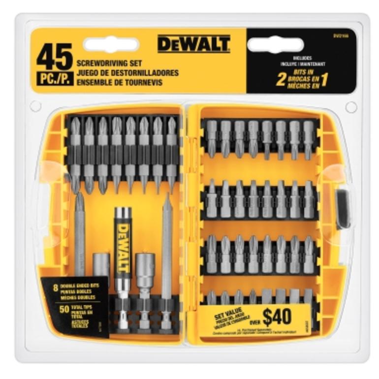 Dewalt 45 Piece Screwdriving Bit Set (DW2166)