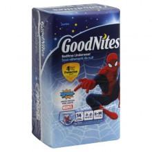 GoodNites Underwear, Bedtime, Size 4-8/S-M (38-65 lb), Spidey Marvel, Jumbo, 14 pair