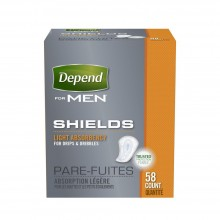 Depend For Men Shields, Light Absorbency, 58 Count