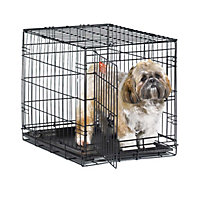 """Midwest iCrate Single Door Folding Dog Crate, 24"""" L X 18"""" W X 19"""" H"""