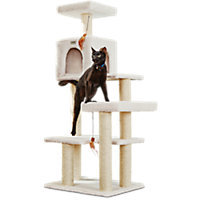 "You & Me Scratch & Snooze Station Cat Tree, 55"" H"