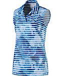 PUMA Women's Bloom Stripe Sleeveless Polo