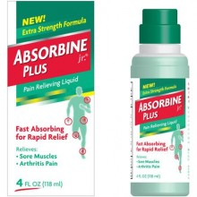 Absorbine Jr. Plus Pain Relieving Liquid, Extra Strength Formula, 4 fl oz (118 ml)
